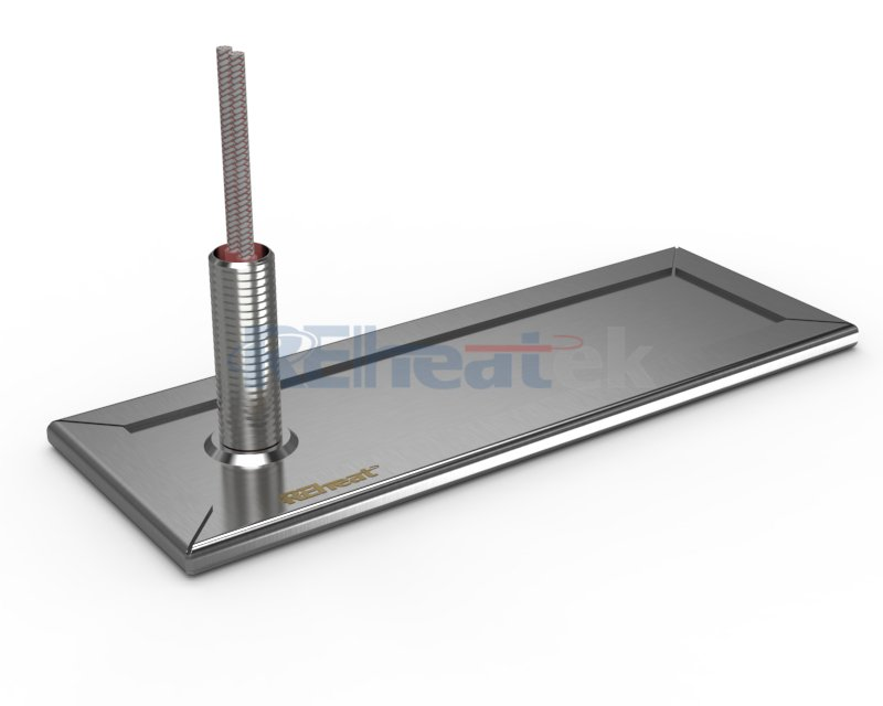 Strip Heater with Surface Leads and Steel Hose