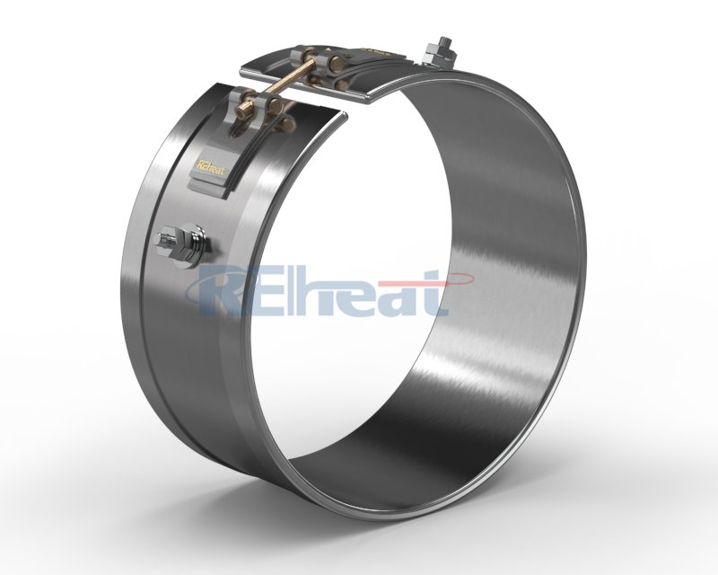 Mica Band Heater with Threaded Terminal At Opposite Sides