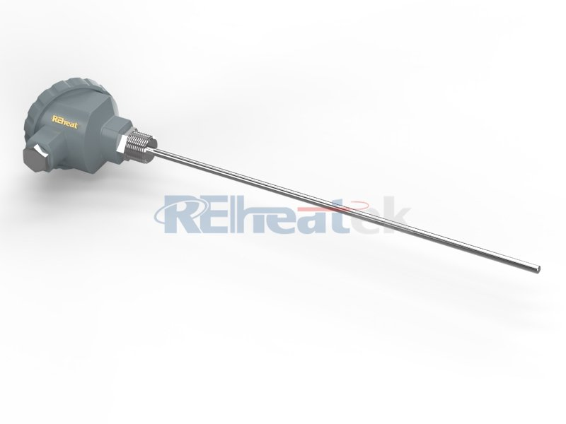 Threaded Thermocouple with Connection Head