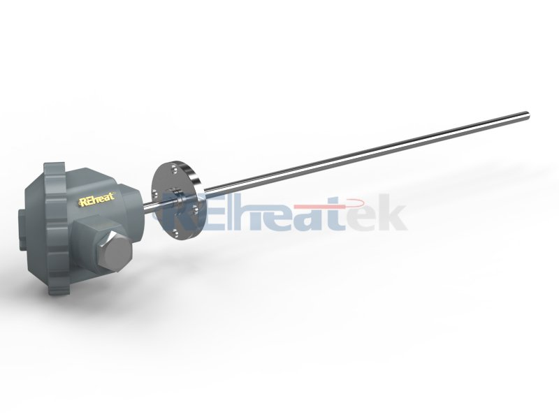 Flange Thermocouple with Connection Head