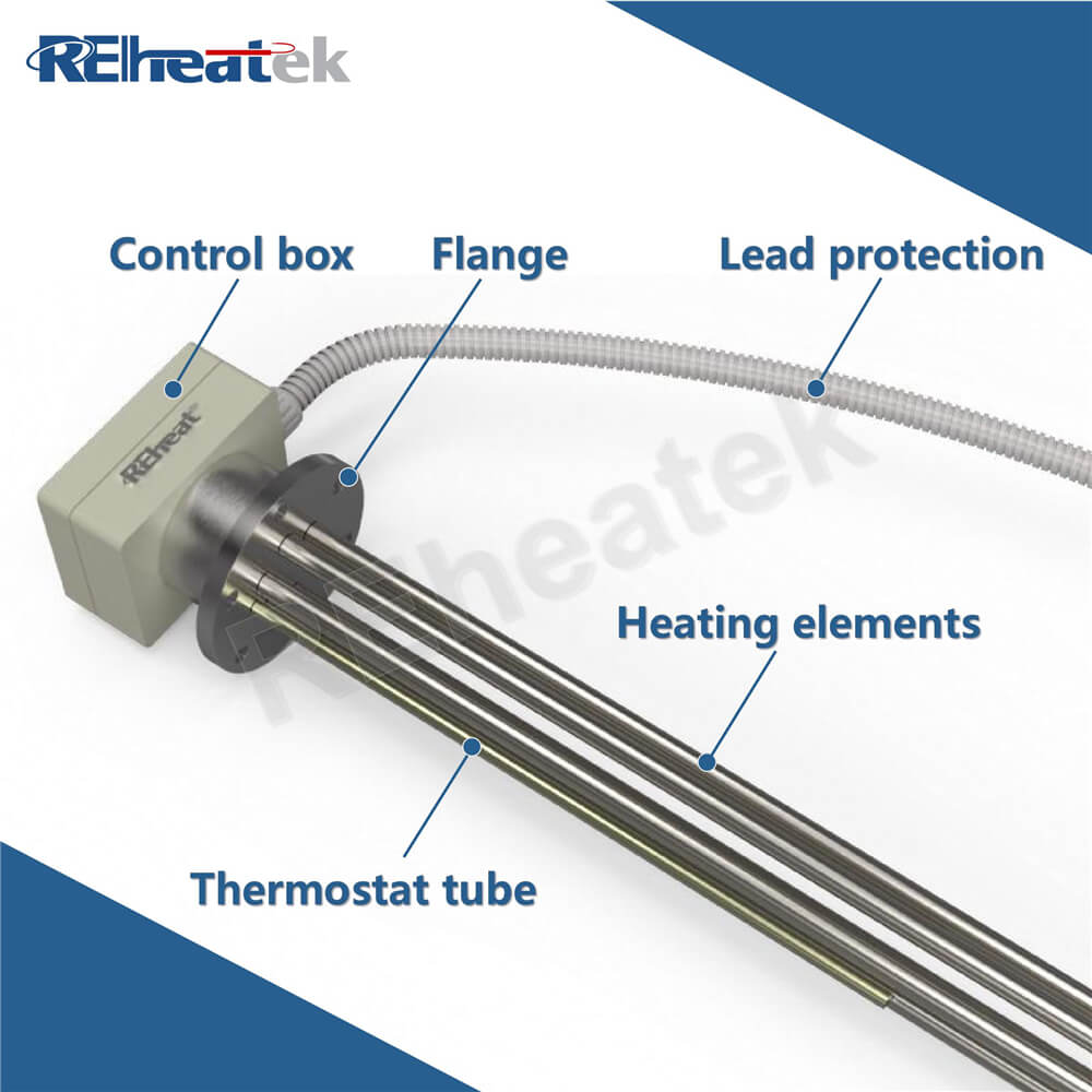 Flange Immersion Heater with Thermostat